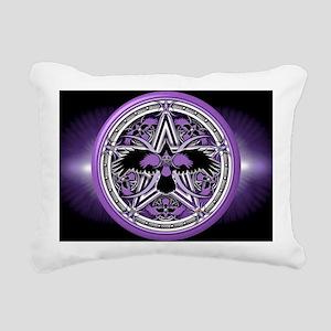 Purple Crow Pentacle Ban Rectangular Canvas Pillow