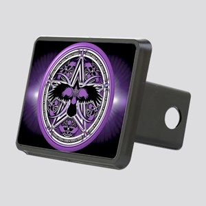Purple Crow Pentacle Banne Rectangular Hitch Cover