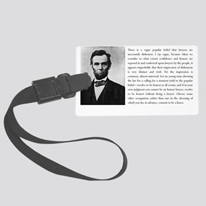 lincoln quote2 Large Luggage Tag