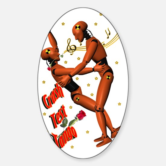 CRASH-TEST-TANGO Sticker (Oval)