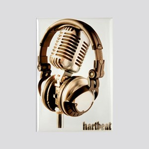 Microphone check Rectangle Magnet