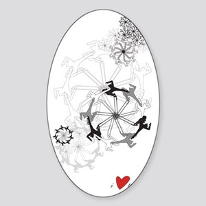 Trapeze-Love_Sigg-1L_T Sticker (Oval)