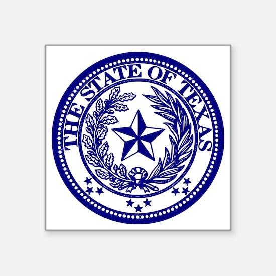 "TexasBlue Square Sticker 3"" x 3"""