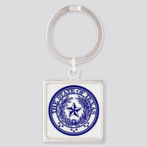 TexasBlue Square Keychain