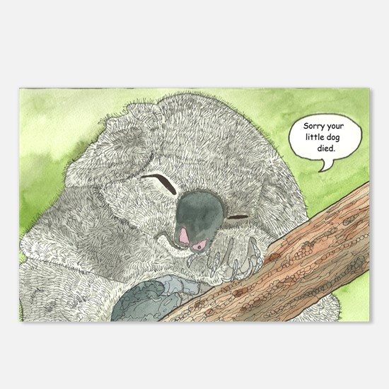 Sympathy Koala Bear Postcards (Package of 8)