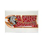 SA Sharks Broomball Rectangle Magnet