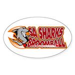 SA Sharks Broomball Oval Sticker