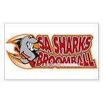 SA Sharks Broomball Rectangle Sticker