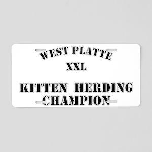 Kitten Herding Aluminum License Plate