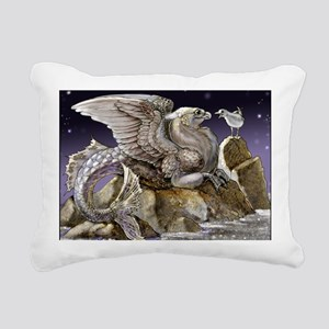 griffacampus seagull fin Rectangular Canvas Pillow