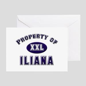 Property of iliana Greeting Cards (Pk of 10)