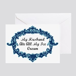 blueswirlshirt Greeting Card
