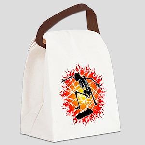 kickflip_esqueleto Canvas Lunch Bag