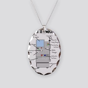 Dialysis is Complicated Necklace Oval Charm