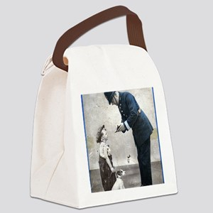 Old Police Print Canvas Lunch Bag