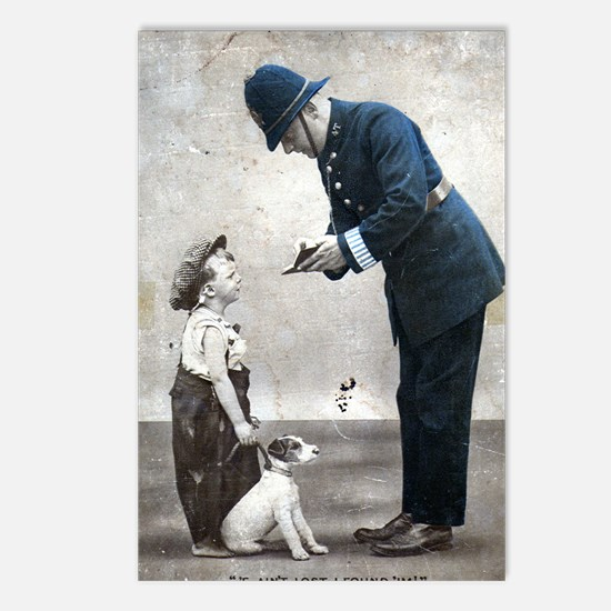Old Police Print Postcards (Package of 8)