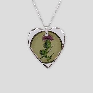 Thistleshirt Necklace Heart Charm