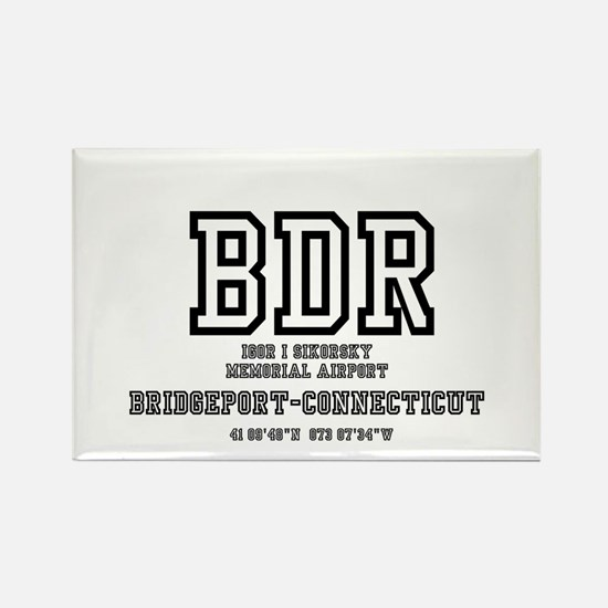 AIRPORT CODES - BDR - SIKORSKY, B Rectangle Magnet