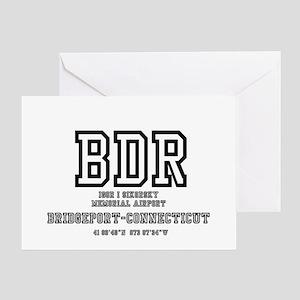 AIRPORT CODES - BDR - SIKORSKY, BRID Greeting Card