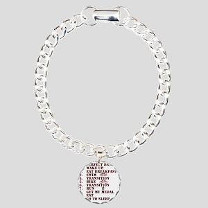 Triathalon Charm Bracelet, One Charm
