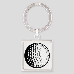 golfball Square Keychain