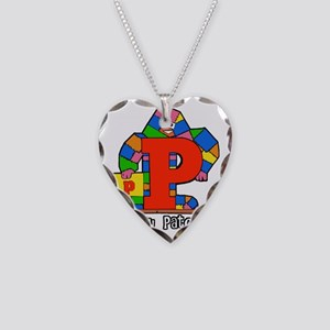 Pointy Patches Necklace Heart Charm