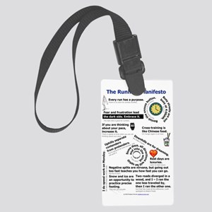The Running Manifesto v2.0 - Min Large Luggage Tag