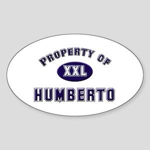 Property of humberto Oval Sticker