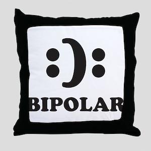 Bipolar Throw Pillow