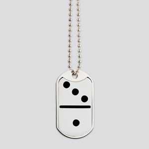domino_one_outline Dog Tags