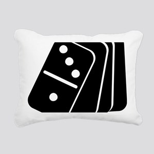 domino_shuffle Rectangular Canvas Pillow