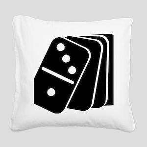 domino_shuffle Square Canvas Pillow