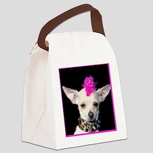 Punk Chihuahua Canvas Lunch Bag