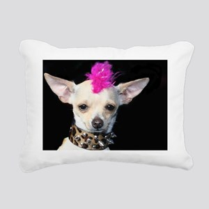 Punk Chihuahua Rectangular Canvas Pillow
