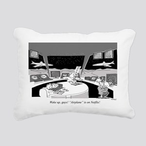 Air Traffic Controllers_ Rectangular Canvas Pillow