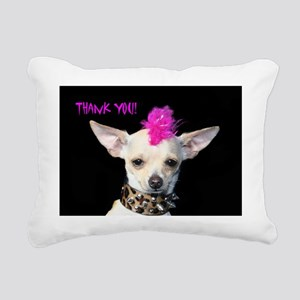 Punk Chihuahua Thank You Rectangular Canvas Pillow