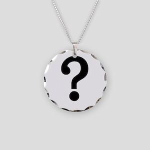 speech_bubble_question Necklace Circle Charm