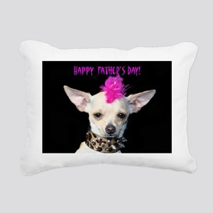 Punk Chihuahua Fathers D Rectangular Canvas Pillow