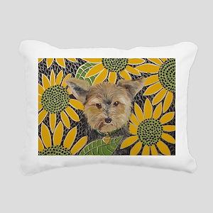 Morkie4x6 Rectangular Canvas Pillow