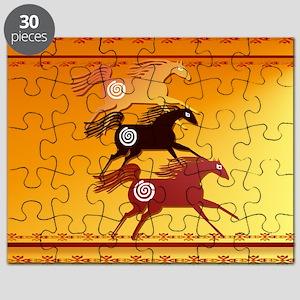 Wall Peel 3 Ancient Horses Puzzle