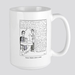 Mahler orders a salad Mugs