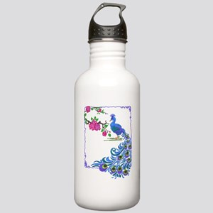 Pretty Peacock Stainless Water Bottle 1.0L