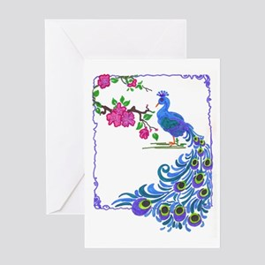 Pretty Peacock Greeting Card