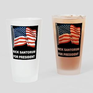 1BLANK BLACK FLAGD Drinking Glass