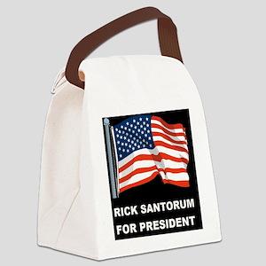 1BLANK BLACK FLAGD Canvas Lunch Bag