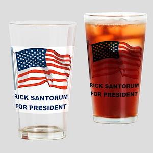 RICK SANTORUM FOR PRES FLAG Drinking Glass