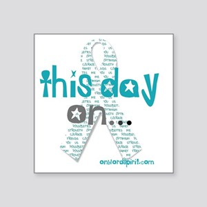 "This Day On...(teal)2 Square Sticker 3"" x 3"""