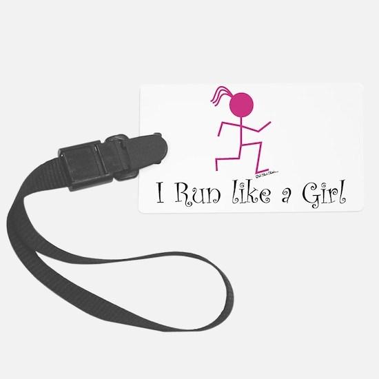 Run like a girl stick Luggage Tag