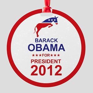 2012_barack_obama_pres_main Round Ornament