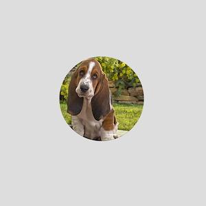 Basset puppy Mini Button